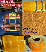 "* 1"", 2"", 3"", 4"" and 6"" School Bus Yellow Reflective Tape"